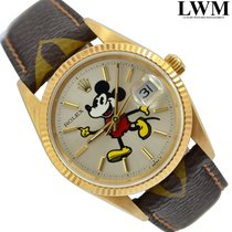 "Rolex Date 15238 by Mickey Mouse ""Follow Me"" yellow gold"