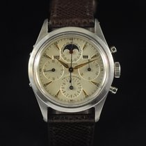 Universal Genève Compax Steel 35mm Champagne No numerals