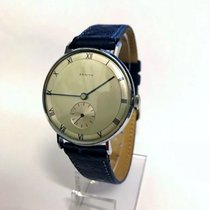 Zenith 34mm Manual winding 1970 pre-owned Silver