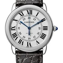 Cartier Ronde Croisière de Cartier Steel 36mm Silver Roman numerals United States of America, New York, New York