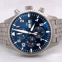 IWC Pilot Chronograph Steel 43mm Blue United States of America, New York, New York