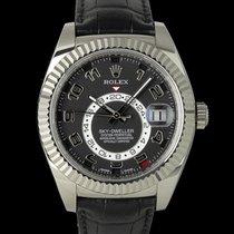 Rolex Sky-Dweller Or blanc 42mm Noir