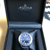 Alpina Plastic Quartz Blue Arabic numerals 45mm new Alpiner