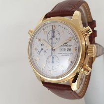 IWC Yellow gold Automatic White Arabic numerals 42mm pre-owned Pilot Double Chronograph