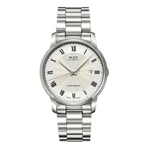 Mido Baroncelli III Steel 39mm Silver Roman numerals United States of America, New Jersey, Edgewater