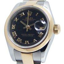 Rolex Lady-Datejust 26mm Czarny Rzymskie