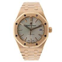 Audemars Piguet AP Royal Oak 37mm Rose Gold Watch Nickel Grey...