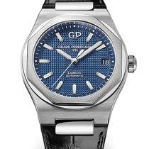Girard Perregaux Laureato 81010-11-431-BB6A Girard Perregaux Quadrante blu Strap Nero nouveau