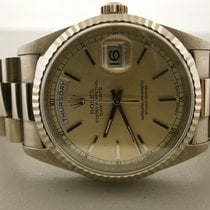 Rolex President 18239 18k White Gold Day/date 36mm Double...