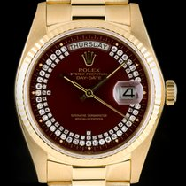 Rolex Day-Date Diamond String Dial Gold 18038