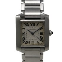 Cartier Tank Française Ref. 2302 Automatic Stainless Steel