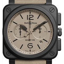 Bell & Ross BR 03-94 Chronographe Ceramic 42mm Champagne Arabic numerals