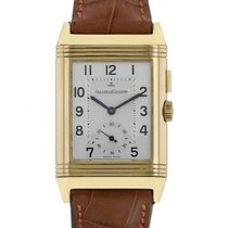 Jaeger-LeCoultre Yellow gold Manual winding Silver Arabic numerals 36mm pre-owned Reverso Duoface