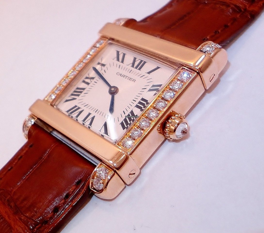 Cartier Ladies Tank Chinoise 18k Rose Gold With Factory... for $7,899 for  sale from a Trusted Seller on Chrono24