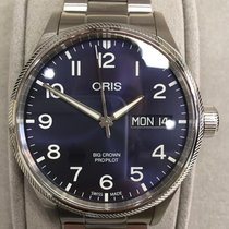 Oris Big Crown ProPilot Day Date Stal 45mm Niebieski Arabskie