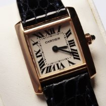 Cartier new Quartz 20mm Yellow gold Sapphire Glass