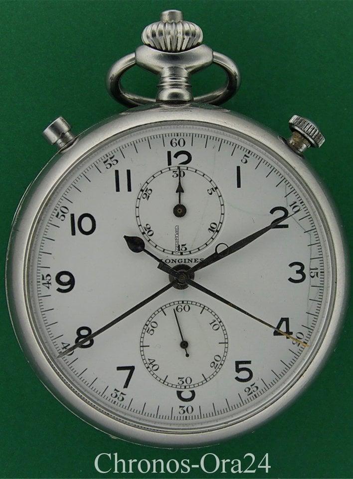 Longines 1949 Manual Second Chronograph Rattrapante 52mm Split SMVqGUzp