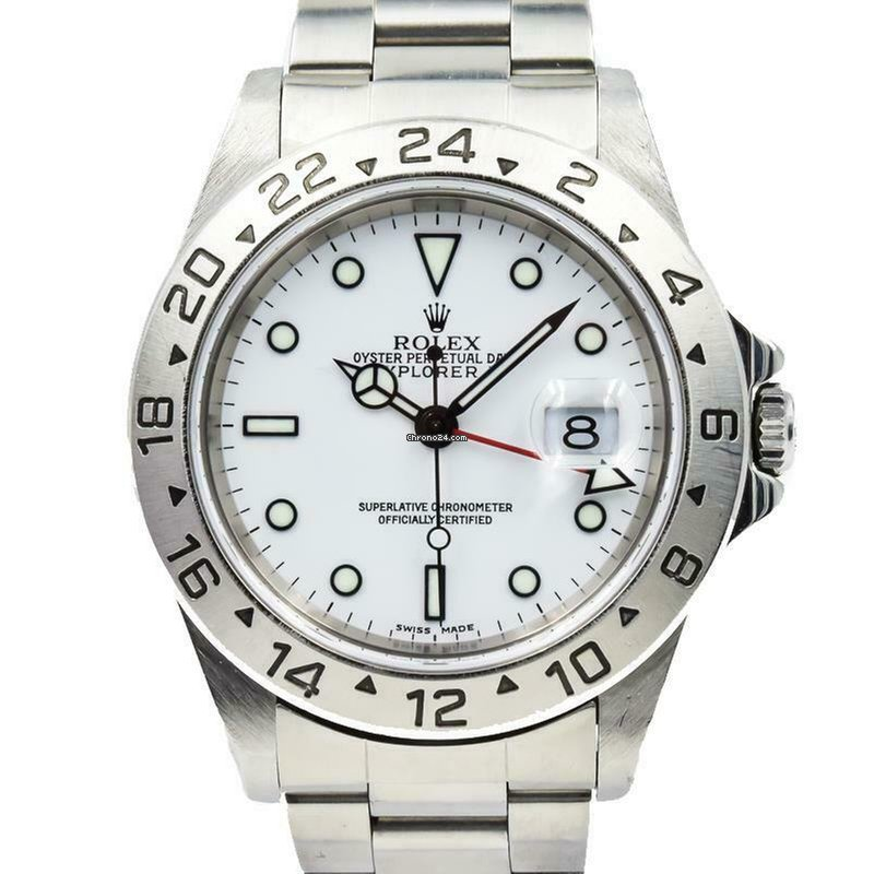 1fd8c855632 Rolex Explorer II - 16570 - Polar White Dial w. Red GMT Hand -... for  $6,600 for sale from a Trusted Seller on Chrono24