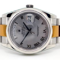 Rolex Day-Date 36 White gold 36mm Silver Roman numerals
