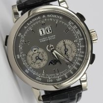 A. Lange & Söhne White gold Manual winding Grey 41mm pre-owned Datograph