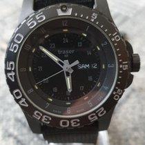 Traser P6600 Steel 45mm Black Arabic numerals