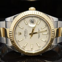 Rolex Datejust II Acero y oro 41mm Blanco Romanos