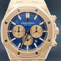 Audemars Piguet Royal Oak Chronograph Roségold 41mm Blau Keine Ziffern