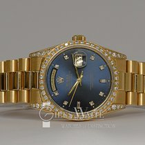 Rolex Day-Date Yellow gold 36mm Blue No numerals