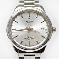 Tudor Style Steel 34mm Silver