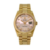 Rolex Day-Date 36 Oro amarillo 36mm Rosa Sin cifras