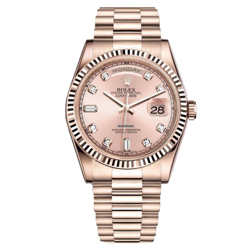 24fb99d6369 Rolex Day-Date Ouro rosa - Todos os preços de relógios Rolex Day-Date Ouro  rosa na Chrono24