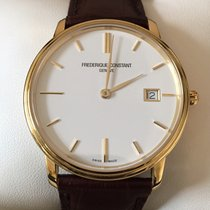 Frederique Constant Slim Line Stainless Steel Brown Leather...