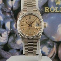 Rolex Ladies Datejust President 26mm Ref 69179 18k White Gold...