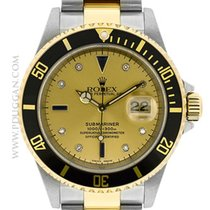 """Rolex stainless steel and 18k yellow gold """"Serti""""..."""