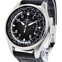 IWC IW326201 Pilots Worldtimer in Steel - On Black Alligator...