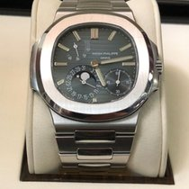 Patek Philippe Nautilus Stainless Steel Blue Dial