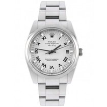 Rolex Oyster Perpetual 34 Steel 34mm White Roman numerals