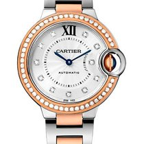 Cartier new Automatic Guilloche Dial 33mm Gold/Steel Sapphire crystal