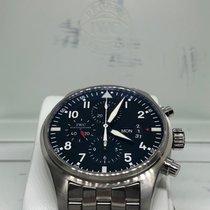 IWC Pilot Chronograph Steel 43mm Black Arabic numerals UAE, Abu Dhabi