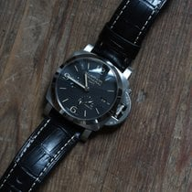 Panerai Luminor 1950 3 Days GMT Power Reserve Automatic Acier 44mm Noir Arabes France, Paris