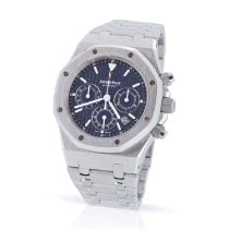 Audemars Piguet Royal Oak Chronograph Aço 39mm Azul Sem números