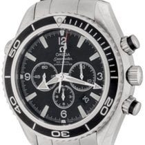 Omega Seamaster Planet Ocean Chronograph Steel 45.5mm Black No numerals