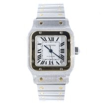 Cartier Santos Galbée pre-owned 32mm White Date Steel
