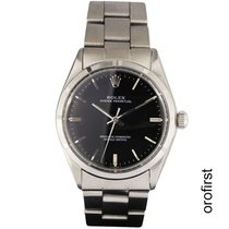 Rolex Oyster Perpetual 34 Acero 34mm Negro Sin cifras