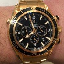 Omega Seamaster Planet Ocean Chronograph Ροζέ χρυσό 45mm Μαύρο
