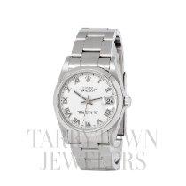 Rolex Lady-Datejust Acier 31mm Blanc Romains
