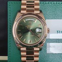 Rolex Day-Date 40 Or rose 40mm Brun