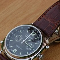 Panerai Radiomir Rattrapante occasion 45mm Noir Chronographe Fonction flyback Tachymètre Cuir