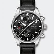 IWC Pilot Chronograph nouveau 2020 Remontage automatique Chronographe Montre avec coffret d'origine et papiers d'origine IW377709