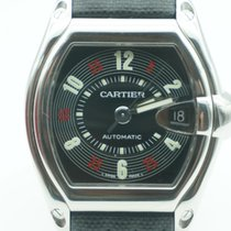 Cartier Roadster Large Stainless Steel Las Vegas Dial Leather...